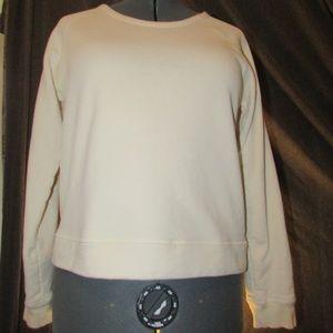 Everlane Ivory Jersey Sweatshirt